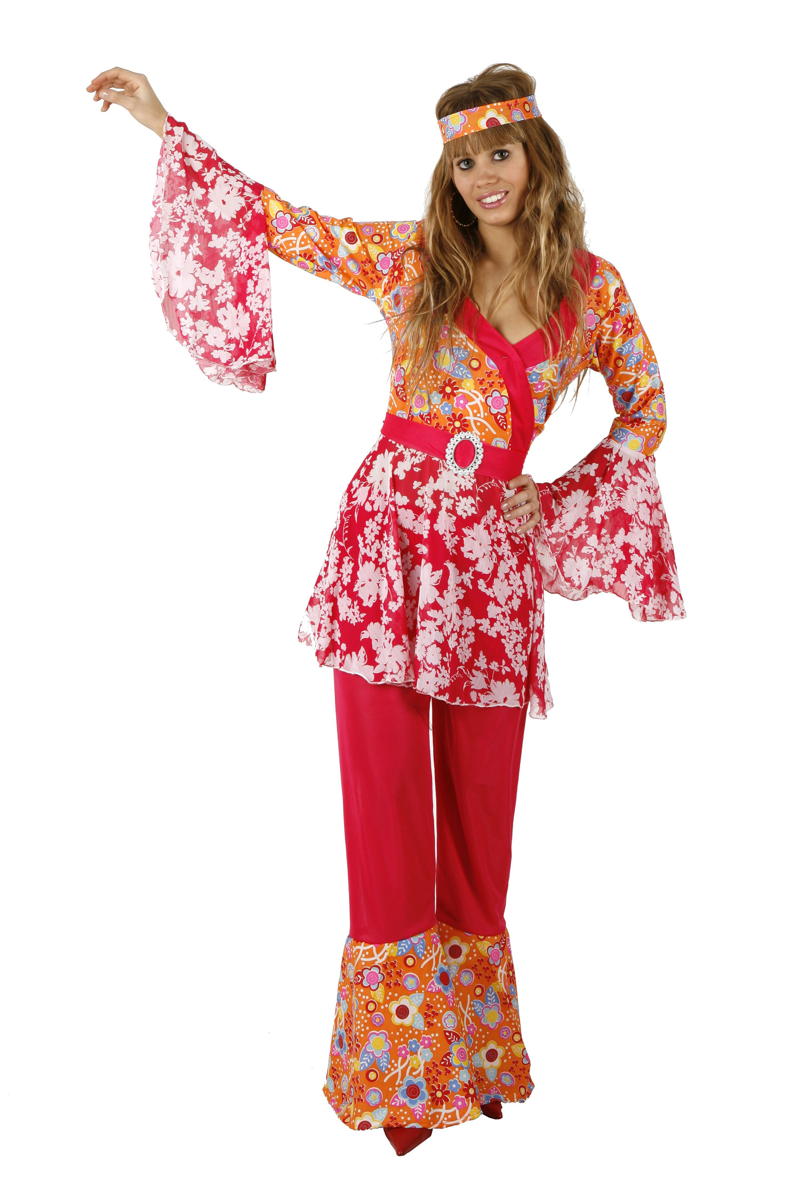 d guisement hippie pour femme d guisement baba cool pas cher costume carnaval. Black Bedroom Furniture Sets. Home Design Ideas